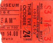 Cream - Oct 24, 1968 at Sam Houston Coliseum