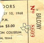 The Doors - Jul 10, 1968 at Sam Houston Coliseum