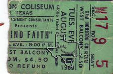 Blind Faith - Aug 19, 1969 at Sam Houston Coliseum