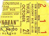 Donovan - Oct 2, 1969 at Sam Houston Coliseum