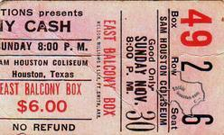 Johnny Cash - Nov 30, 1969 at Sam Houston Coliseum