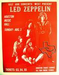 Led Zeppelin - Aug 3, 1969 at Houston Music Hall