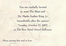 Martin Luther King, Jr. - Oct 17, 1967 at Rice Hotel