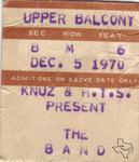 The Band - Dec 5, 1970 at Sam Houston Coliseum