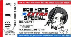 Bob Hope - May 16, 1970 at Houston Astrodome