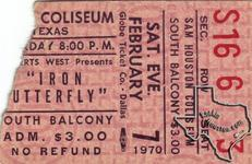 Iron Butterfly - Feb 7, 1970 at Sam Houston Coliseum