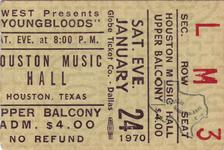 Youngbloods - Jan 24, 1970 at Houston Music Hall