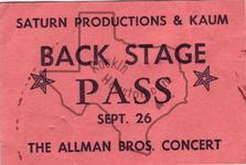 Allman Brothers - Sep 26, 1971 at Sam Houston Coliseum