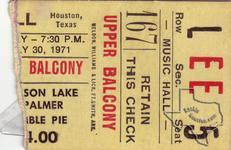 Emerson Lake & Palmer - Jul 30, 1971 at Houston Music Hall