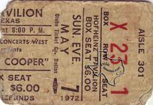 Alice Cooper - May 7, 1972 at Hofheinz Pavilion