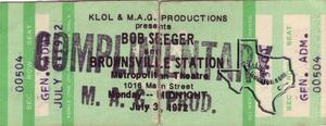 Bob Seger - Jul 3, 1972 at Metropolitan Theater
