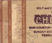 Chicago - Feb 6, 1972 at Sam Houston Coliseum