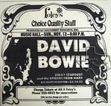 David Bowie - Nov 12, 1972 at Houston Music Hall