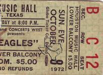 Eagles - Oct 8, 1972 at Houston Music Hall