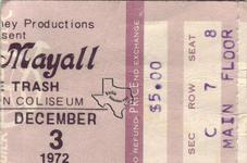 John Mayall - Dec 3, 1972 at Sam Houston Coliseum