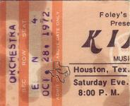 Kinks - Oct 28, 1972 at Houston Music Hall