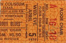 Moody Blues - Apr 5, 1972 at Sam Houston Coliseum