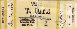 T Rex - Oct 7, 1972 at Houston Music Hall