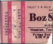 Boz Scaggs - May 4, 1973 at Houston Music Hall