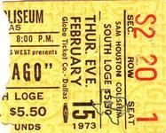 Chicago - Feb 15, 1973 at Sam Houston Coliseum