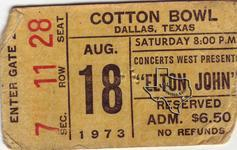 Elton John - Aug 18, 1973 at The Cotton Bowl - Dallas, Texas