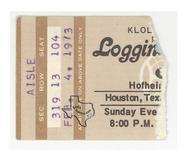 Kenny Loggins / Loggins & Messina - Feb 4, 1973 at Hofheinz Pavilion