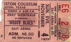 Moody Blues - Nov 4, 1973 at Sam Houston Coliseum