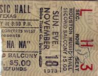 Sha Na Na - Nov 18, 1973 at Houston Music Hall