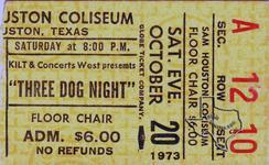 3 Dog Night - Oct 20, 1973 at Sam Houston Coliseum