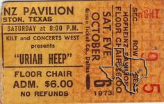 Uriah Heep - Oct 6, 1973 at Hofheinz Pavilion