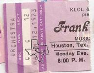 Frank Zappa - Mar 12, 1973 at Houston Music Hall