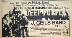 J. Geils Band - Apr 7, 1974 at Houston Astrodome