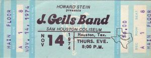 J. Geils Band - Nov 14, 1974 at Sam Houston Coliseum