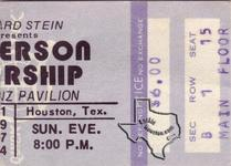 Jefferson Starship (Starship) - 1974 at Hofheinz Pavilion