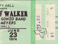Jerry Jeff Walker - Jun 23, 1974 at Houston Music Hall
