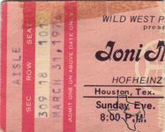 Joni Mitchell - Mar 31, 1974 at Hofheinz Pavilion