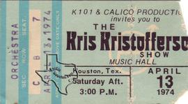 Kris Kristofferson - Apr 13, 1974 at Houston Music Hall