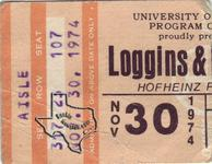 Kenny Loggins / Loggins & Messina - Nov 30, 1974 at Hofheinz Pavilion