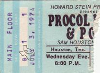 Procol Harum - Jul 3, 1974 at Sam Houston Coliseum