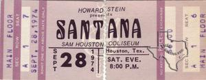 Santana - Sep 28, 1974 at Sam Houston Coliseum