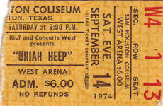 Uriah Heep - Sep 14, 1974 at Sam Houston Coliseum