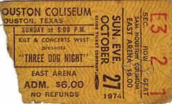 3 Dog Night - Oct 27, 1974 at Sam Houston Coliseum