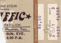 Traffic - Oct 13, 1974 at Hofheinz Pavilion