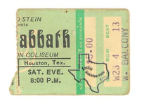 Black Sabbath - Aug 23, 1975 at Sam Houston Coliseum
