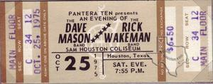Dave Mason - Oct 25, 1975 at Sam Houston Coliseum