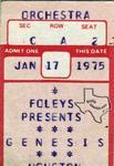 Genesis - Jan 17, 1975 at Houston Music Hall