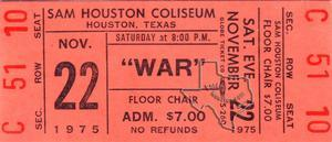 War - Nov 22, 1975 at Sam Houston Coliseum