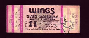 Wings - May 4, 1976 at The Summit