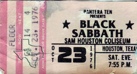 Black Sabbath - Oct 23, 1976 at Sam Houston Coliseum