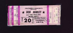 Bob Marley - May 20, 1976 at Houston Music Hall